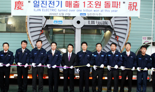 LJIN Electric Corporation achieves 1 trillion won in total annual sales